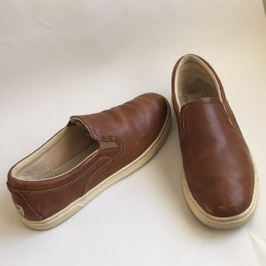 UGG leather loafers slip ons